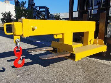 2500kg extendable jib forklift attachment
