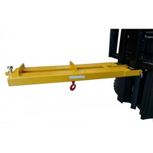 2000kg forklift crane jib attachment with tow ball