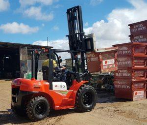 Heli k series 3000kg diesel rough terrain forklift