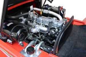 isuzu engine inside a heli 3000kg diesel rough terrain forklift