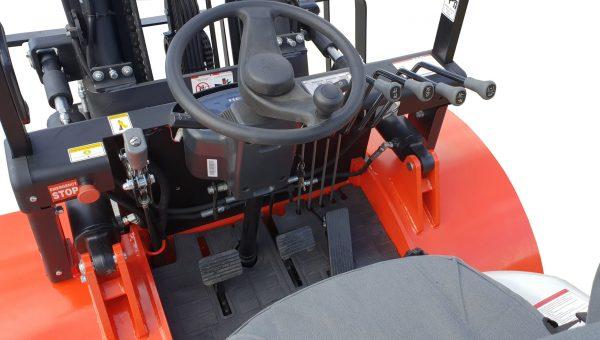 Heli k series 3500kg diesel rough terrain forklift