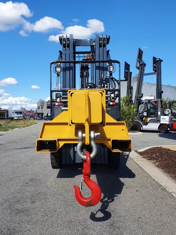 10t extendable jib forklift attachment